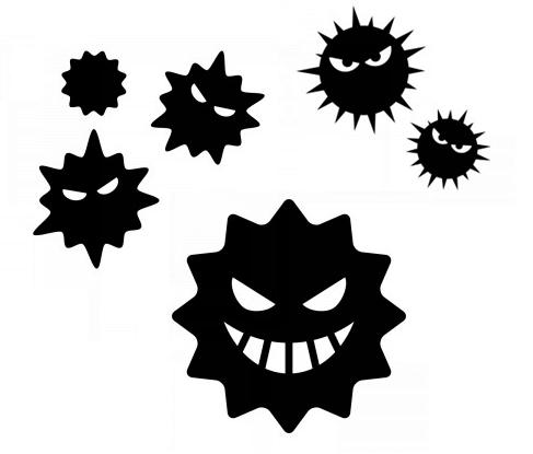 ウイルス・花粉・カビイメージ